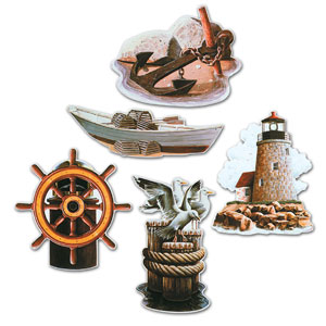 Nautical Cutouts- 5ct