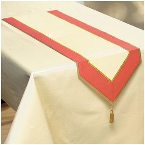 Red Theme Paper Table Runner- 72 Inch