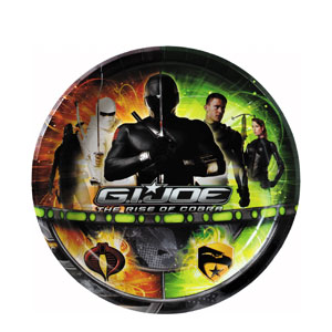 GI Joe 9 Inch Plates- 8ct