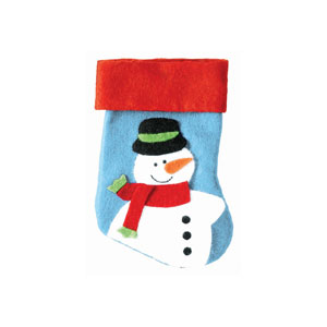 Mini Snowman Christmas Stockings- 4ct