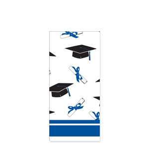 Grad Plastic Tablecover - Blue