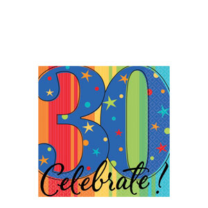A Year To Celebrate 30 Beverage Napkins- 16ct