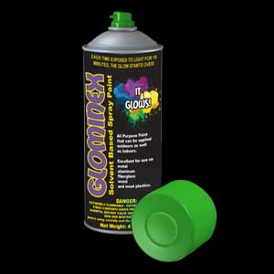 Glominex Glow Spray Paint 4oz - Green
