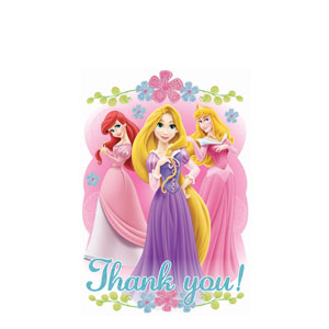 Disney Princess Thank You Cards - 8ct