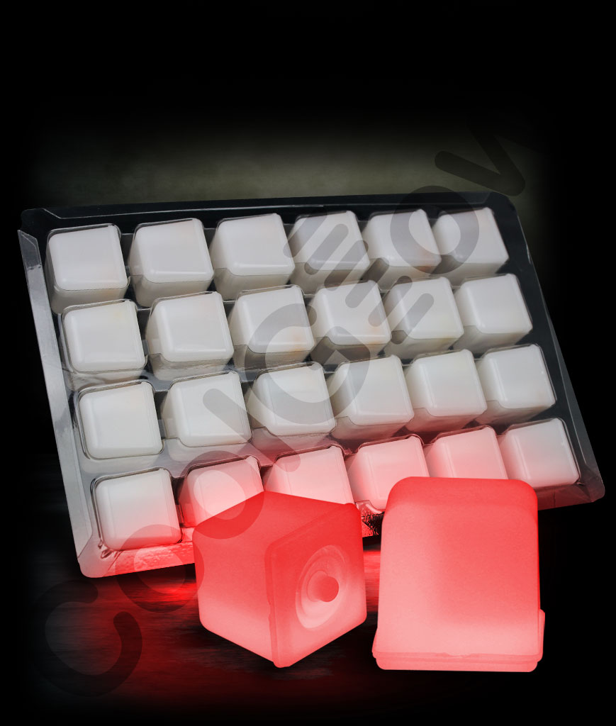 Valentines Day Party Supplies Valentine Led Chaser Glowing Ice Cubes Red