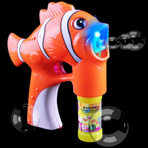 Fun Central R382 LED Light Up Bubble Gun - Fish