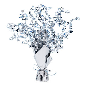 Silver Heart Centerpiece