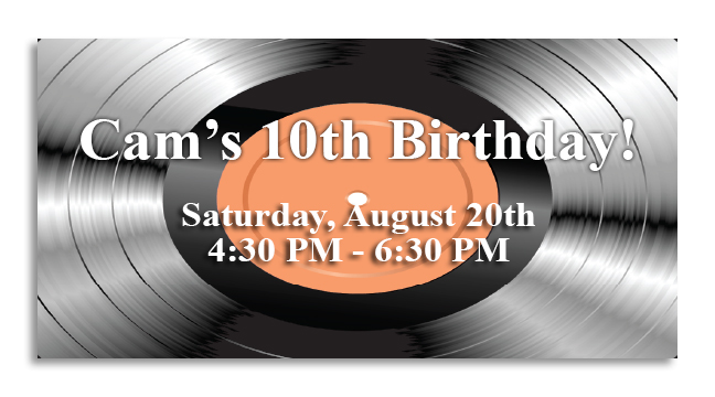 Record - Custom Invitations