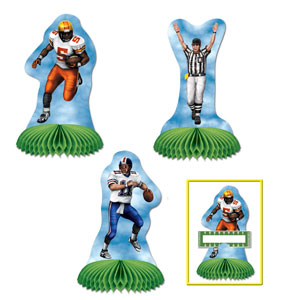 Football Playmates Centerpiece- 3ct