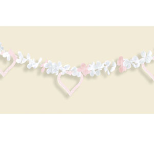 Blushing Bouquet Flower Garland- 15ft