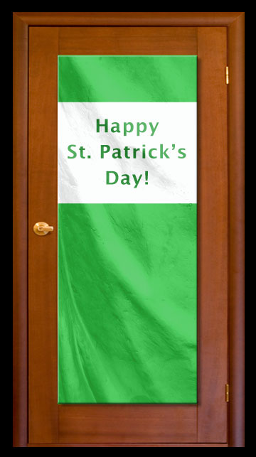 Green - Custom Door Banner