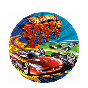 Hot Wheels 9 Inch Plates- 8ct