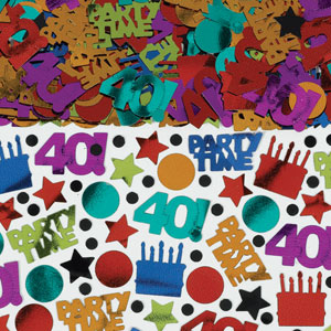 Dots and Stripes 40th Confetti