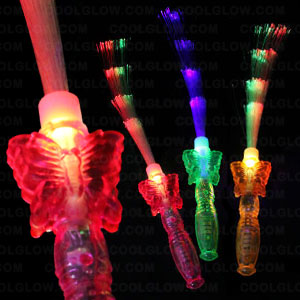 LED Fiber Optic Butterfly Wand - Assorted