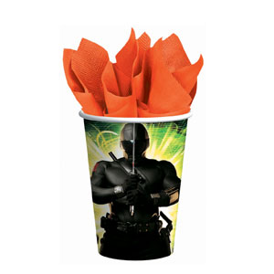 GI Joe 9 oz. Cups- 8ct