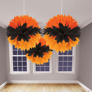 Black and Orange Fluffy Assortment- 3ct