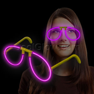 Fun Central Y49 Glow in the Dark Eye Glasses - Purple