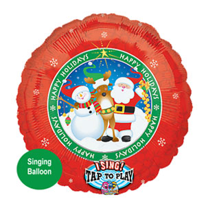 Happy Holidays Singing Balloon - 32 Inch