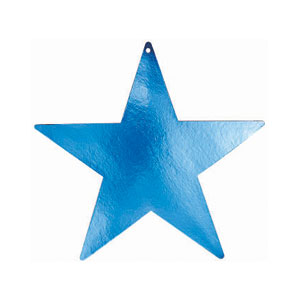Blue 12 Inch Star Cutouts- 5ct