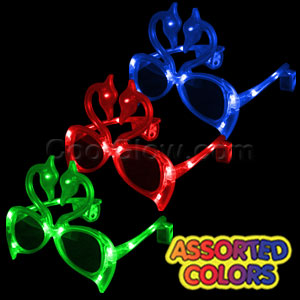 LED Flamingo Sunglasses - Assorted