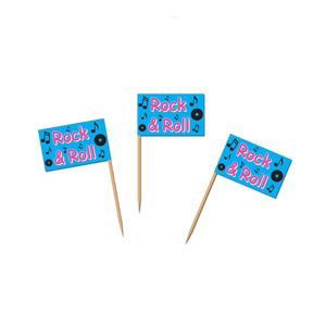 Rock n Roll Flag Picks - 50ct