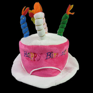 Birthday Candles Hat - Pink