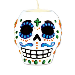 Day of the Dead Tea Light Holder - Male