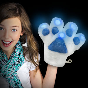 LED Furry Mascot Paw - Blue