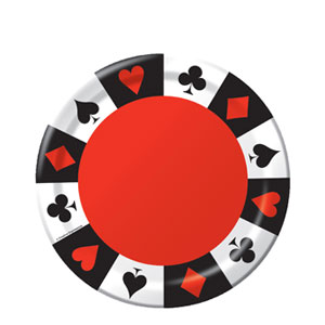 Card Night 7 Inch Plates- 8ct