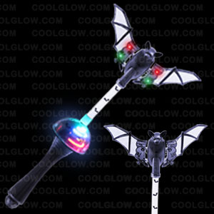 LED Spinning Bat Wand - 14 Inch