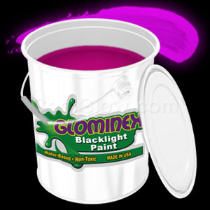 Glominex Blacklight UV Reactive Paint Gallon - Pink