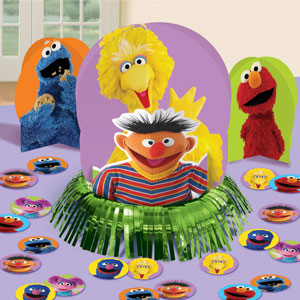Sesame Street Table Decorating Kit- 23pc