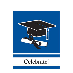 Grad Invitation - Blue