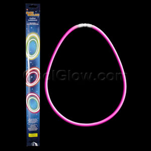 22 Inch Retail Packaged Glow Necklaces - Pink