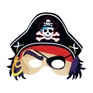 Pirate Mask- 8ct