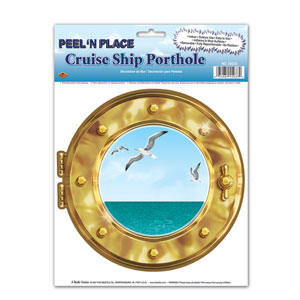 Cruise Ship Porthole Peel 'N Place- 15in
