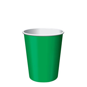 9oz Paper Cups Emerald Green
