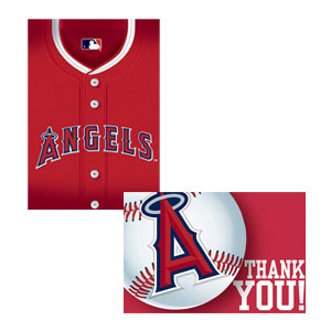 Los Angeles Angels Invitations and Thank You Cards Set- 16ct