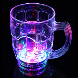 Fun Central AD010 LED Light Up 16oz Liquid Activated Beer Mug - Multicolor
