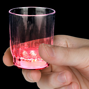 LED Shot Glass - Red