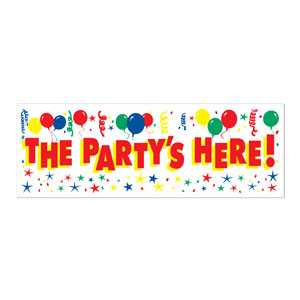The Party's Here Sign Banner - 5ft