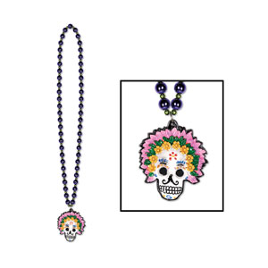 Day of the Dead Beads w Medallion 2