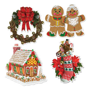 Home for Christmas Cutouts - 4ct