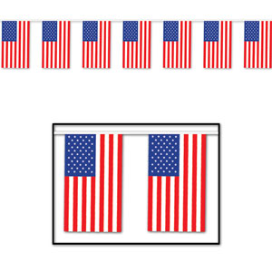 Outdoor American Flag Banner- 60ft