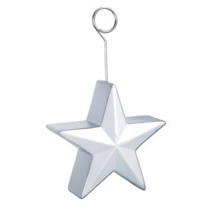 Silver Star Balloon Weight - 6oz
