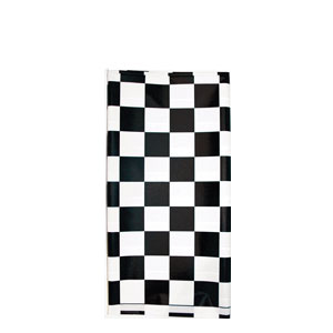 Black Check Plastic Tablecover