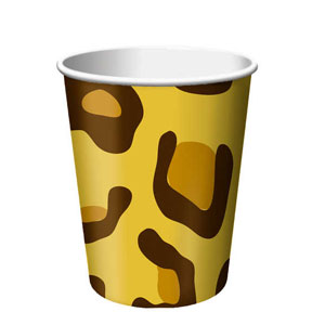 Leopard Print 9 oz. Cups- 8ct