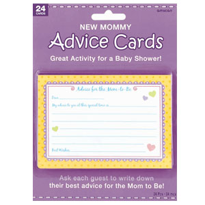 New Mommy Advice Cards - 24ct