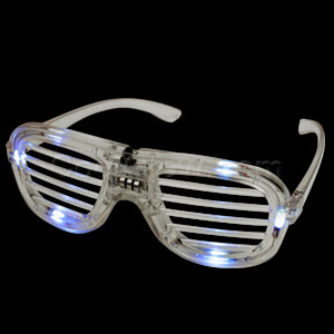 LED Shutter Shades - White
