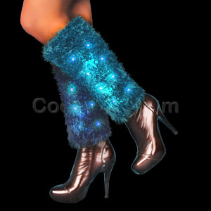 Fun Central AI348 LED Light Up Leg Warmers - Blue